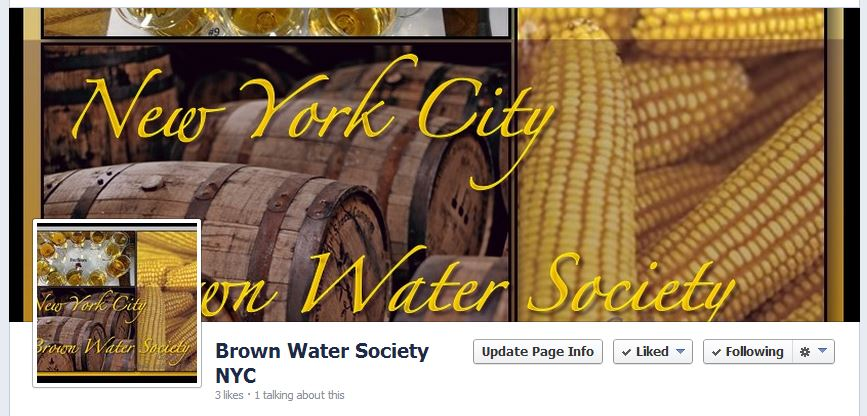 Facebook Page for Brown Spirits Tasting group in New York City.